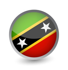 Saint Kitts and Nevis Flag Round Glossy Icon