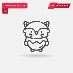 fox vector icon.