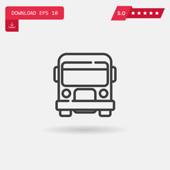 bus vector icon.