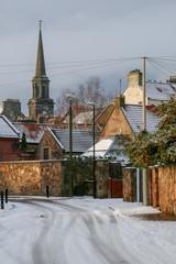 Village Winter Street Scene