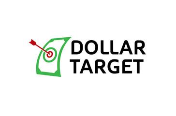 Dollar Target Arrow Logo Design Illustration