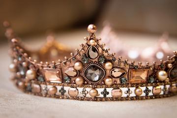 Royal crown in medieval style. Vintage