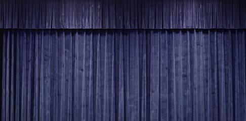 Close up on Blue curtain stage background