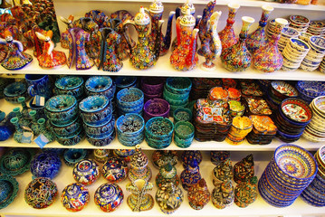 Turkish painted handmade souvenirs. Turkish ceramics