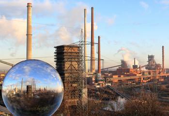 Zukunft der Stahlindustrie in der Glaskugel