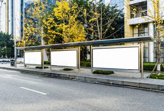 Bus station billboards