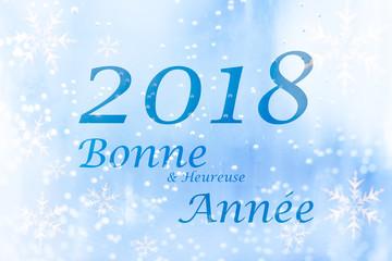 Carte de voeux Nouvelle Année 2018