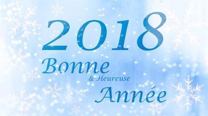 Bonne année 2018 - carte de voeux