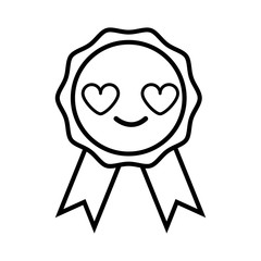 line cute and in love medal prize kawaii
