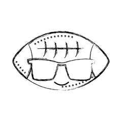 figure happy american ball kawaii with sunglasses