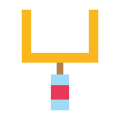 colorful goal post to football field sport