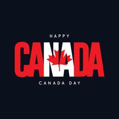 Happy Canada Day Vector Template Design