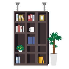 地震対策 本棚 イラスト