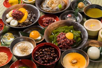 和のスイーツ typical Japanese sweets