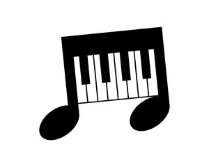 piano musical notes tone tune rhythm image vector