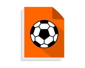 soccer paper sheet image vector icon