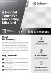 A4 Marketing Flyer template left title style 10 dark color