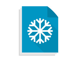 snow paper sheet image vector icon