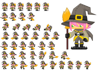 Animated Witch Game Character