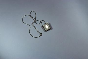 open book antique locket
