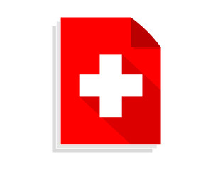 switzerland paper sheet image vector icon