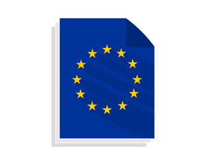 europe paper sheet image vector icon