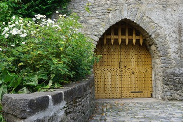 Medieval European castle gate