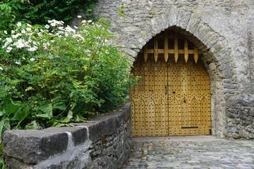 Medieval European castle gate