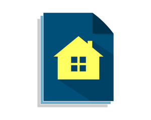 house paper sheet image vector icon
