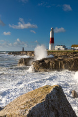 England.Dorset.Weymouth.Portland.Portland Bill in stormy weather