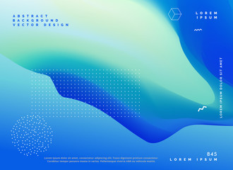 blue color gradient background poster design