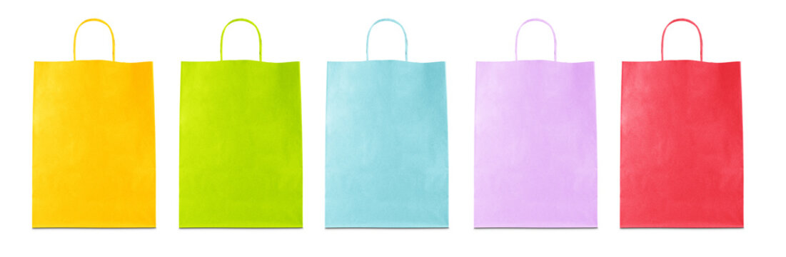 Borse di carta colorate