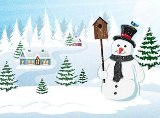 Christmas Scene Winter Landscape