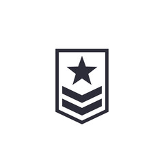 Military rank icon on white