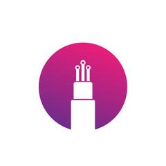optic fiber cable vector icon