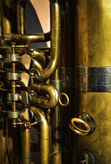 detail of a brass musical instrument
