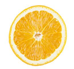 Fresh orange. Cut in half