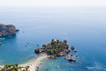 Taormina, Sicily. Isola Bella Island