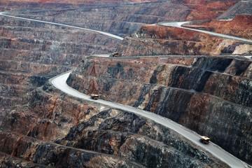 Garden Poster Oceania Super Pit Gold Mine in Kalgoorlie-Boulder Western Australia