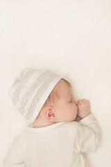 Portrait of adorable newborn baby sleeping
