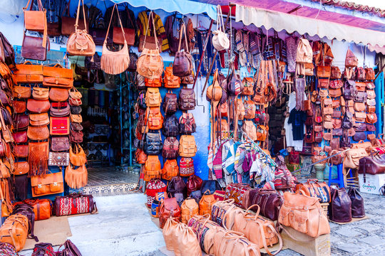 Bags for sale, Chefchaouen