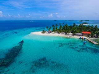 Aerial Image from San Blas Islands in Panama
