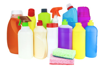 Assortment of household chemical products