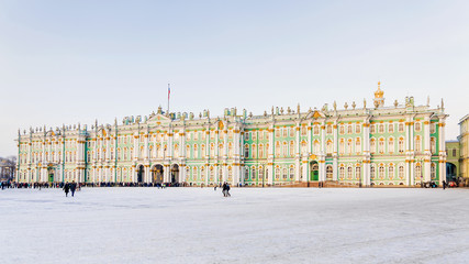 winter view of the Palace Square in St. Petersburg, Russia