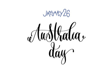 january 26 - Australia day - hand lettering inscription text