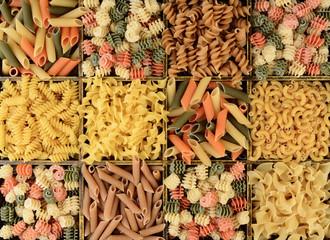 Closeup of a Box of Assorted Pastas