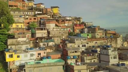 Wall Mural - Aerial view of favela in Rio de Janeiro, Brazil