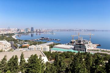 Panoramic view of Baku. A bird's-eye view. Republic of Azerbaijan