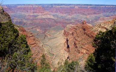 The Grand Canyon from the South Basin in Arizona during the late autumn season.