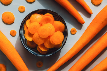 Peeled and Sliced Carrots
